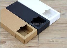 custom chipboard drawer box with black white brown kraft paper