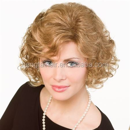 new arriving short curly blonde wig cosplay high quality Japan sexy women curly short blonde wig