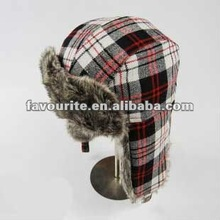 winter hat with ear flap and fur lining