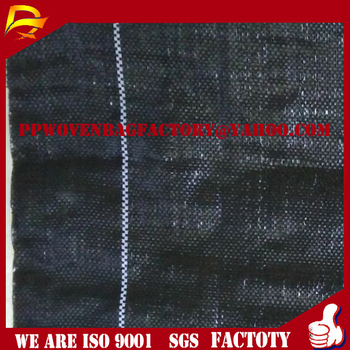 0.86mx50m Black PP Woven Weed Control Mat