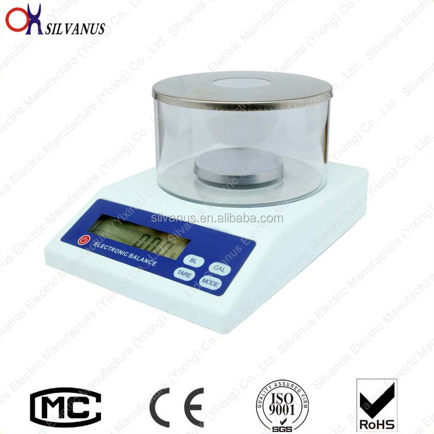 Precision Laboratory Electronic Balance With Rechargeable Battery