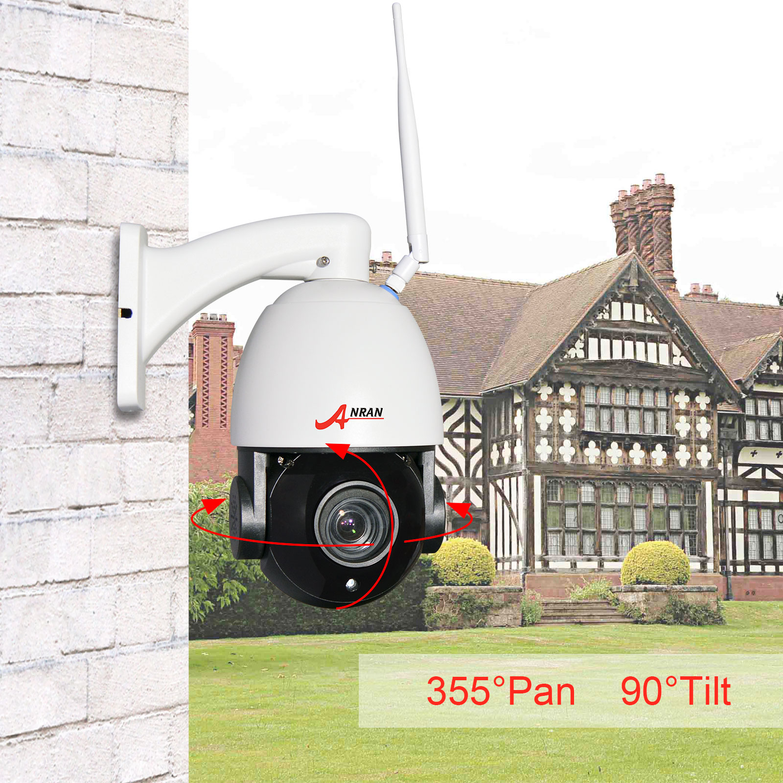 PTZ 1080P 2.0MP 4X Wireless Camera HD Home Security Camera Outdoor Dome 2.8mm-12.0mm