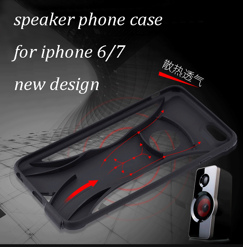 Loudspeaker Phone case tough cover for iphone 7 case, cover for iphone 7 case