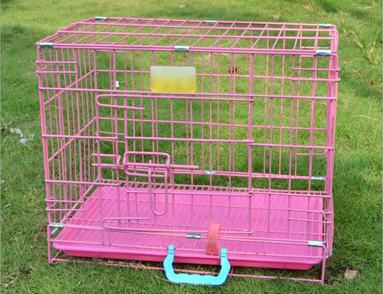 Foldable Double Door Dog Crate Large Size 36LX21WX24H