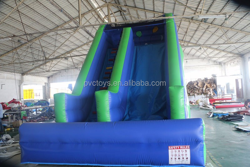 commercial cheap 0.55mm pvc slide style inflatable giant slide for adult
