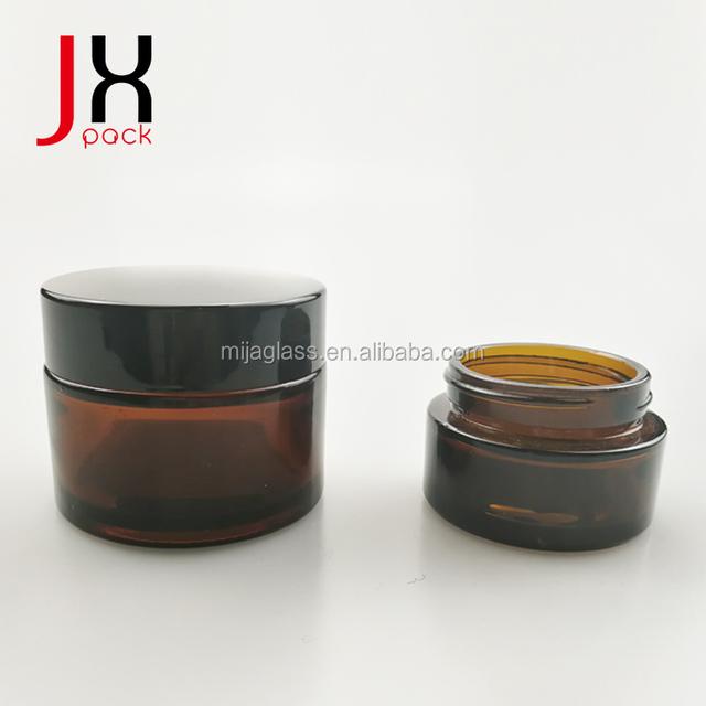 Great Quality Amber Clear Cosmetic Jar Bottle Screw Cap Face Cream Glass Jar