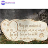 Pet Memorial Stone Marker for Dog or Cat - For Outdoor Garden, Backyard, or Lawn. Pet Grave Headstone Tombstone