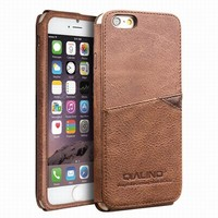 2016 New Arrival QIALINO Luxury Genuine Leather Case for iphone 6 4.7inch Cover Phone Bags Pouch