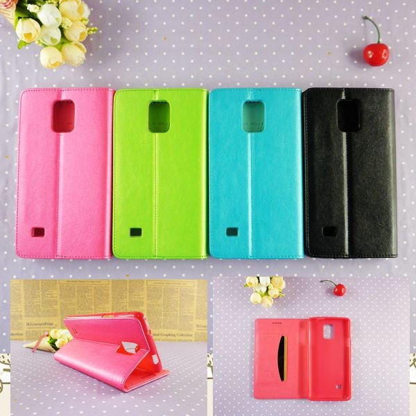 Candy colors leather flip phone wallet for samsung note 5 4 3 2with card slots stand wallet phone case wholesale