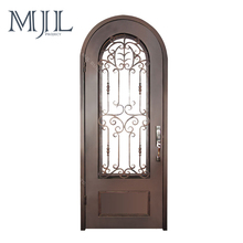 Custom Made Outward Opening Galvanized Steel Main Wrought Iron Double Door