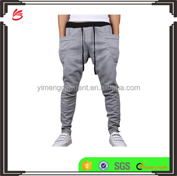 Plain harem custom jogger sweat pants wholesale mens trousers