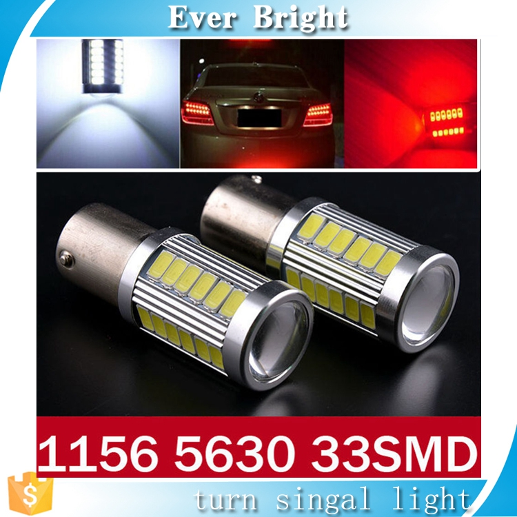 Car styling High Quality Car led 1156 1157 33SMD 5730 Car Motorcycle Brake Parking Reverse Lights Fog Lamps Tail light