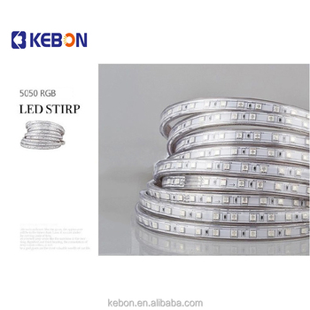 Hot Wholesale single row 220V IP68 SMD5050 Project RGB LED strip light