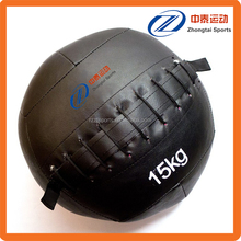 extra durability double stitched PU leather medicine ball for sale