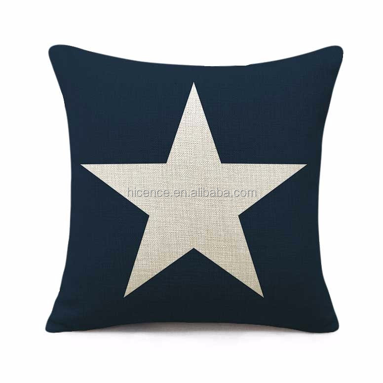 Black and White Stars Cushion Pillow