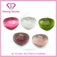 Heart shape cat eyes stones for jewelry