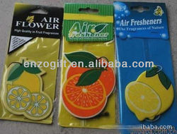 fruit shaped Lemon car freshener, paper freshener factory price
