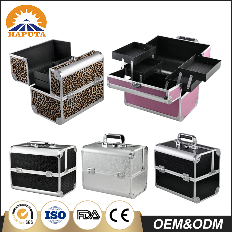 Hot selling professional portable deluxe cosmetic case with Colourful