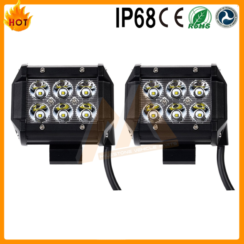 "2016 cheap off road work light 6 leds 4"" led light bar"