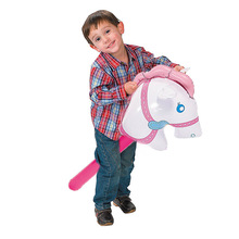 manufacturer wholesale pvc kids toy cheering inflatable walking stick with horse head