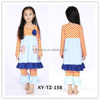 kids clothes 100% Cotton Long Sleeve Children Clothes baby childrens boutique girls boutique clothing suppliers for boutiques