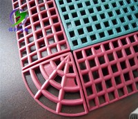 Customized pp interlock outdoor tennis court rubber mat flooring