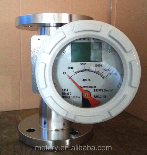 Ex-proof PTFE 24VDC Metal Tube Flowmeter