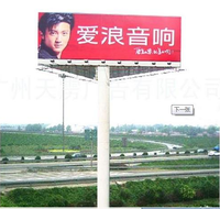 New Products 2016 Double Side Board and Light Pole Led outdoor Advertising