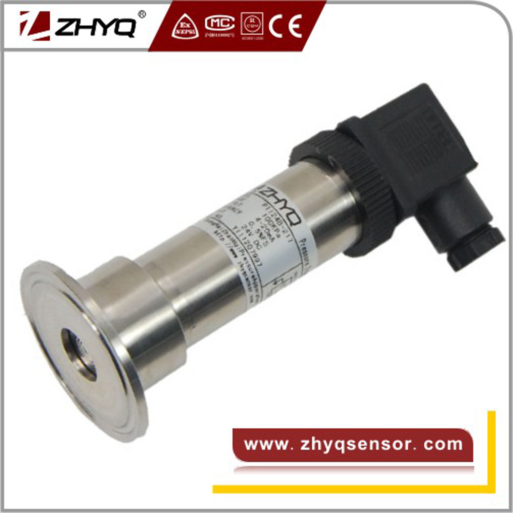 Sanitary type clamp pressure transmitter