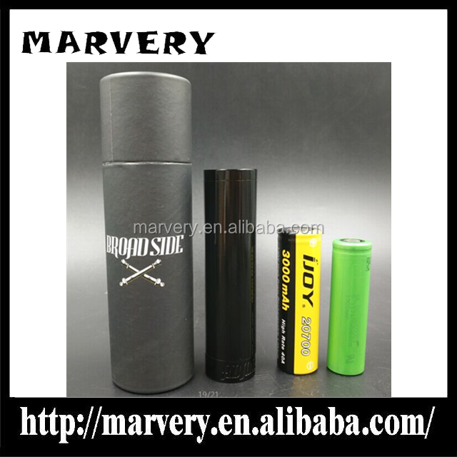 Broadside admiral Mod 20700 battery mod 2017 vape mod high quality no springs no magnets 25mm Broadside tube mod