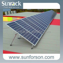 Adjustable Flat Roof PV Solar Aluminum Mounting Systems