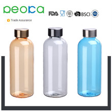 Clear Plastic Sport Fruit Juice Water Cup Portable Travel Bottle
