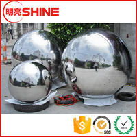 Chinese steel ball manufacturer large hollow garden stainless steel ball