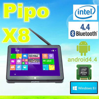 "Pipo TV Receivers PIPO X8 Win 8.1 and Android 4.4 Dual Boot OS Intel Z3736F Quad Core Mini PC 7"" Tablet 2G/32G"