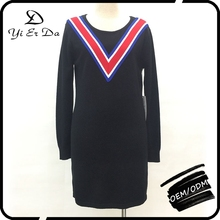 Latest Design Ribbon Knitted Fashion Stylish Ladies Sweater Pullover