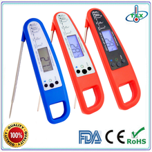 Instant read digital food thermometer, oven thermometer, kitchen thermometer with LED back light and magnet