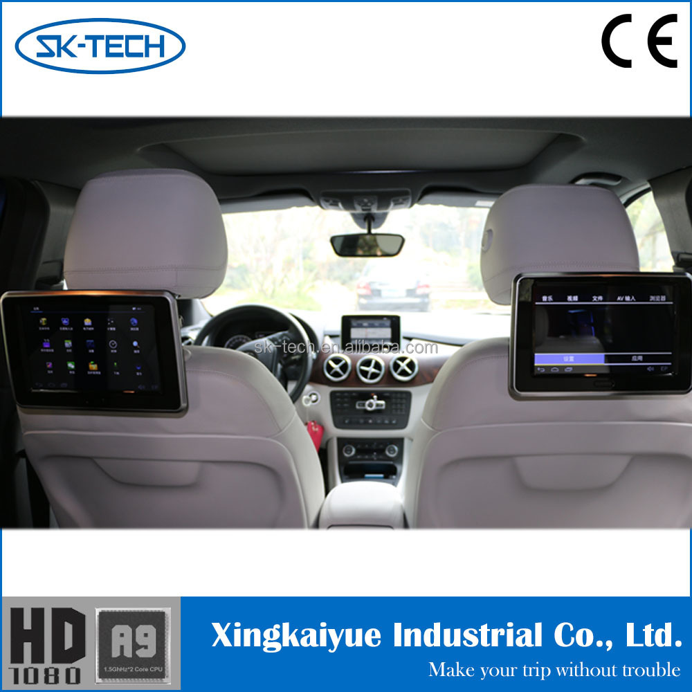 Car digital touch screen dvd player 9 inch Android rear seat headrest monitor