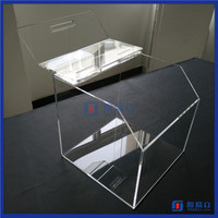 2016 Hot Sale!! Retail store supermarket plexiglass candy box , acrylic candy bin & dry food container