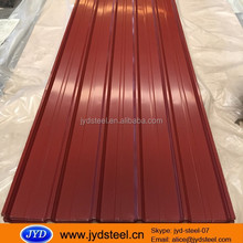 Ghana popular 32 gauge trapezodial roofing sheet 1025mm/ full hard zinc roofing sheet/ colored galvalumed roofing