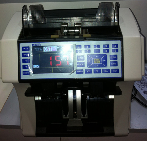 the newest Indian money counter and sorter with 2 pockets