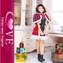 women new arrival christmas cosplay costume for christmas latex costume christmas dress