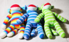Good quality Knitting wool knitted colorful plush monkey sock monkey