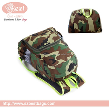 custom camouflage color foldable laptop backpack