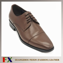 Korean Style high quality soft genuine cow leather brown men shoes from China shoes factory