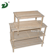 Hot-selling Europe simple design shoe rack for sale,wooden layers shoe rack,shoe rack designs wood