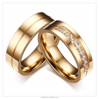 2017 Hot sales Titanium steel three color stainless steel rings Jewelry Zircon women man unisex couple ring LVR048