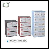 Plastic 3-Tier Storage Unit 4 Drawers Price Wholesale