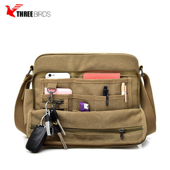 Fashion custom long strap shoulder sling bag vintage canvas mens bags messenger