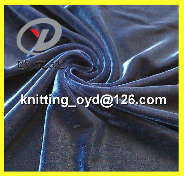 Textile Design Polyester Navy Spandex Velour Fabric For Women Dress & Cloth