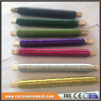 Colored floral wire for bundling, wrapping, wreaths, Christmas wreaths and craft work